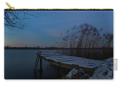 Carry-all Pouch featuring the photograph Moonlight Over The Lake by Davor Zerjav