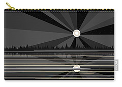 Moonrise In Black And White Carry-all Pouch