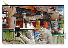 Carry-all Pouch featuring the painting More Thro The Window On The World by Val Byrne