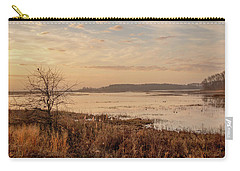 Carry-all Pouch featuring the photograph Morning At Boombay Hook by Kristia Adams