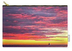 Morning Fire Over Whaleback Light Carry-all Pouch