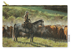 Carry-all Pouch featuring the painting Morning In The Highwoods by Kim Lockman