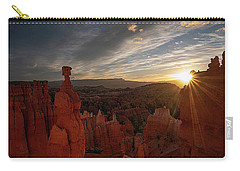 Carry-all Pouch featuring the photograph Morning Kiss by Edgars Erglis