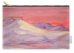 Carry-all Pouch featuring the painting Morning Light In The Mountains by Dobrotsvet Art