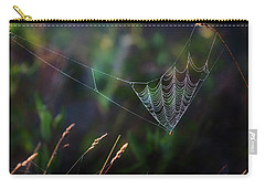 Carry-all Pouch featuring the photograph Morning Spider by Bill Wakeley