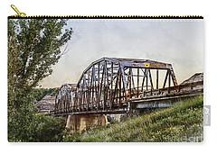 Carry-all Pouch featuring the photograph Morrin Bridge by Brad Allen Fine Art