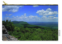 Carry-all Pouch featuring the photograph Mount Everett And Mount Race From The Summit Of Bear Mountain In Connecticut by Raymond Salani III