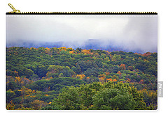 Carry-all Pouch featuring the photograph Mount Greylock In The Clouds by Raymond Salani III