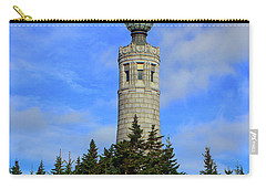 Carry-all Pouch featuring the photograph Mount Greylock Tower From Bascom Lodge by Raymond Salani III