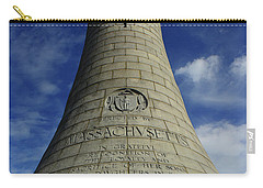 Carry-all Pouch featuring the photograph Mount Greylock Tower Up And Close 2 by Raymond Salani III