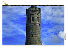 Carry-all Pouch featuring the photograph Mount Greylock Tower With Clouds by Raymond Salani III