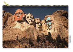 Mount Rushmore Red And Blue Drawing Carry-all Pouch