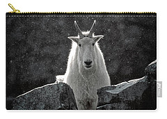 Carry-all Pouch featuring the photograph Mountain Goat by Brad Allen Fine Art