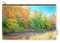 Mountain Stream In Early Autumn Carry-all Pouch