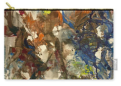 Carry-all Pouch featuring the painting Moving Stage by Nicolas Bouteneff