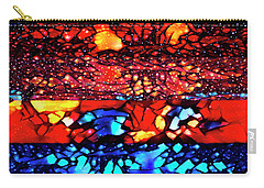 Carry-all Pouch featuring the digital art Muad'dib's Dream by Mike Braun