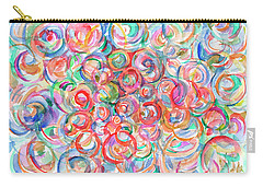 Multicolor Bubbles Carry-all Pouch