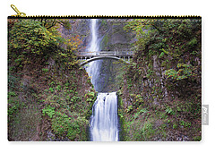 Carry-all Pouch featuring the photograph Multnomah Fallas 110718 by Rospotte Photography