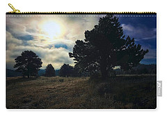 Carry-all Pouch featuring the photograph Murky Atmosphere Elk Meadow by Dan Miller