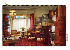 Carry-all Pouch featuring the photograph Music - Organ - In The Parlor by Mike Savad