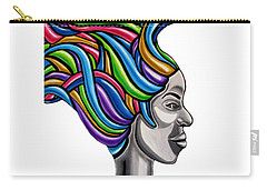 Carry-all Pouch featuring the painting My Attitude - Abstract Chromatic Hair Painting, Abstract Female Painting - Ai P. Nilson by Ai P Nilson