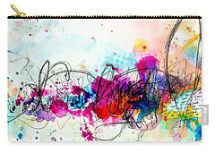 Carry-all Pouch featuring the painting My Ben, Be Mine, All Mine 1 by Tracy Bonin