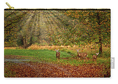 Carry-all Pouch featuring the photograph My Deer Family by Susan Candelario