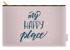 My Happy Place - Baby Room Nursery Art Poster Print Carry-all Pouch