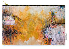 Carry-all Pouch featuring the painting My Mouth Hasn't Shut Up About You Since You Kissed It by Tracy Bonin