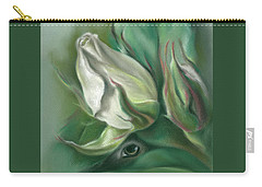 Carry-all Pouch featuring the pastel Mystery In The Rose Garden by MM Anderson