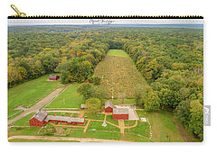 Carry-all Pouch featuring the photograph Nathan Hale Homestead by Michael Hughes