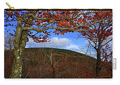 Carry-all Pouch featuring the photograph Nature Frames Mount Greylock's Tower by Raymond Salani III