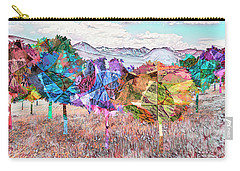 Carry-all Pouch featuring the digital art Nature's Kaleidoscope by Mike Braun