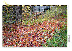 Carry-all Pouch featuring the photograph New England Autumn Woods by Bill Wakeley