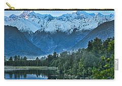 Carry-all Pouch featuring the photograph New Zealand Alps 2 by Steven Ralser