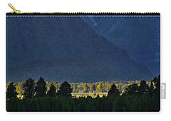 Carry-all Pouch featuring the photograph New Zealand Alps Foothills Sunrise by Steven Ralser