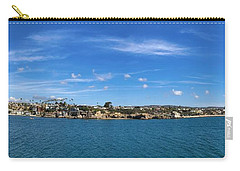 Carry-all Pouch featuring the photograph Newport Harbor Panorama  by Brian Eberly