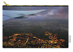 Night Flight Over City Lights Carry-all Pouch