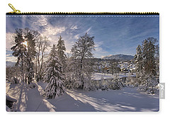 Carry-all Pouch featuring the photograph No Time Like Snowtime by Edmund Nagele