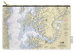 Chesapeake Bay, Cove Point To Sandy Point Nautical Chart Carry-all Pouch