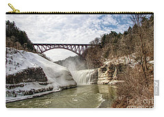 Winter At Letchworth State Park Carry-all Pouch