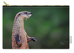 Carry-all Pouch featuring the photograph Norman The Otter by Meta Gatschenberger