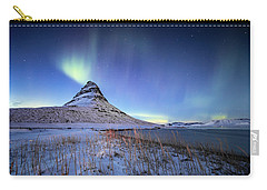 Northern Lights Atop Kirkjufell Iceland Carry-all Pouch