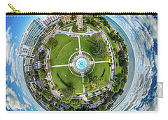 Carry-all Pouch featuring the photograph Northpoint Water Tower Little Planet by Randy Scherkenbach