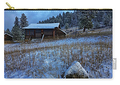 Carry-all Pouch featuring the photograph November Cabin by Dan Miller