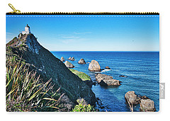 Carry-all Pouch featuring the photograph Nugget Point Lighthouse 2 - Catlins - New Zealand by Steven Ralser