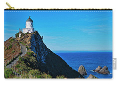 Carry-all Pouch featuring the photograph Nugget Point Lighthouse 4 - Catlins - New Zealand by Steven Ralser