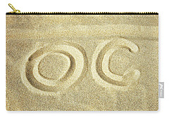 Carry-all Pouch featuring the photograph O C In The Ocean City Sand by Bill Swartwout Fine Art Photography