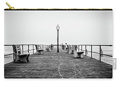 Carry-all Pouch featuring the photograph Ocean Grove Pier 1 by Steve Stanger