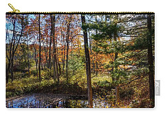 Carry-all Pouch featuring the photograph October Late Afternoon by Kendall McKernon